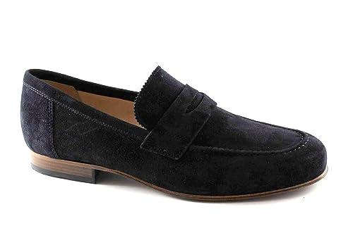 8e168c522aa48 Nero Giardini Black Jardins 4880 Bleu Chaussures Homme Mocassins Collège  Élégant  Amazon.fr  Chaussures et Sacs