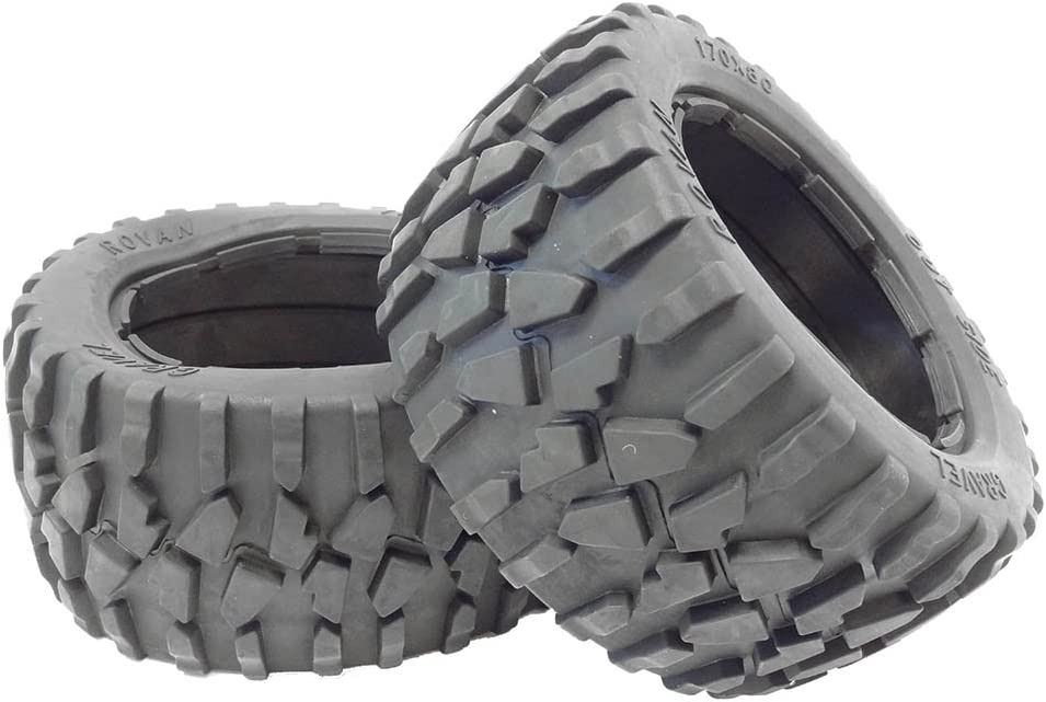 Amazon Com Rovan 1 5 Buggy Rear Gravel Off On Road 170x80 Tires Fit Hpi Baja 5b King Motor Toys Games
