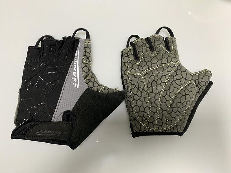 Anqier-サイクルグローブ-サイクリンググローブ-衝撃吸収パット-滑り止め手袋