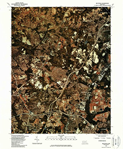 Beltsville MD topo map, 1:24000 scale, 7.5 X 7.5 Minute, Historical, 1981, updated 1986, 26.8 x 22 IN - Paper (Chestnut Knoll Saddle)
