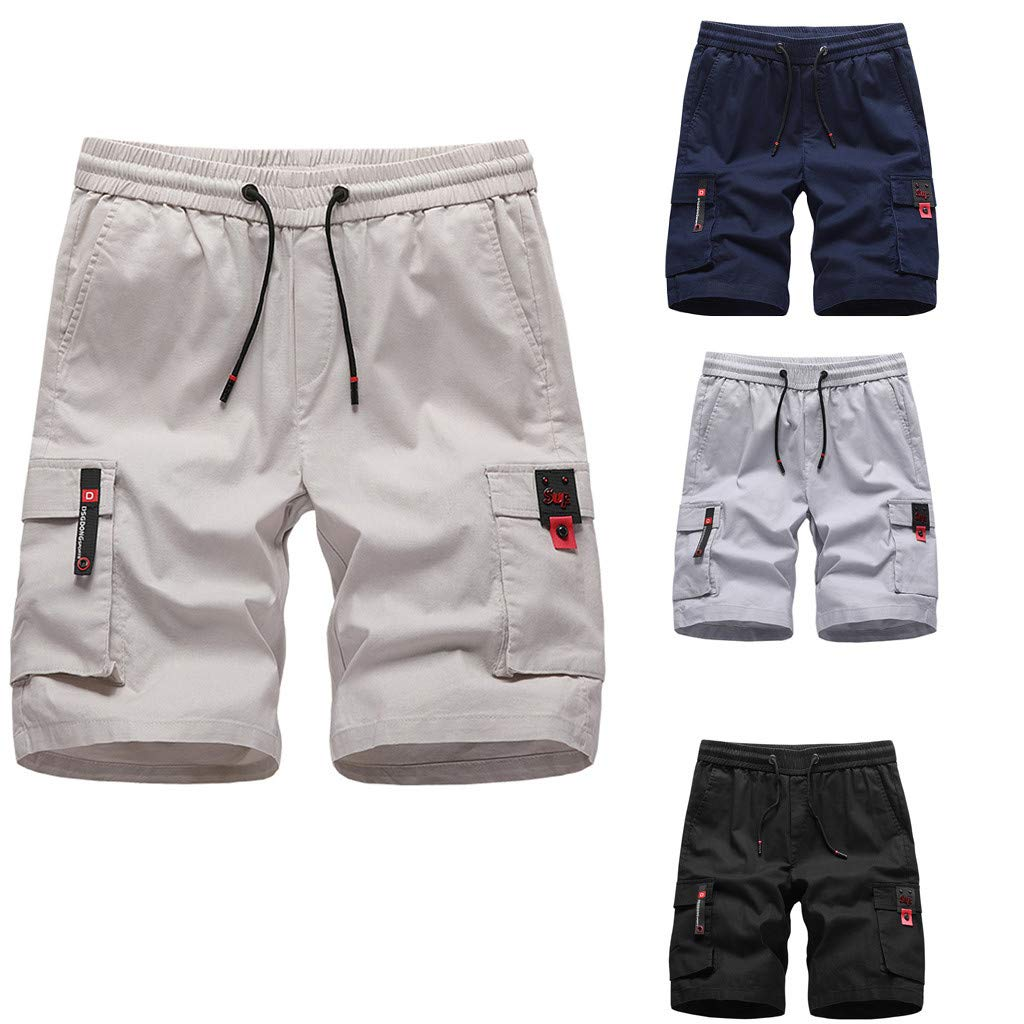 Fitfulvan Mens Fashion Shorts Swim Trunks Quick Sport Beach Surfing Swimming Water Pants Five Points of Casual Pants