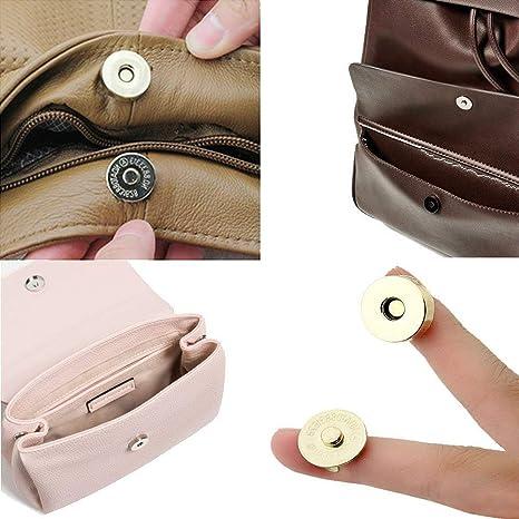 20 Set Bolso magnético broches cierres 14mm 18mm Plata Oro Rosa Encaje vendedor del Reino Unido