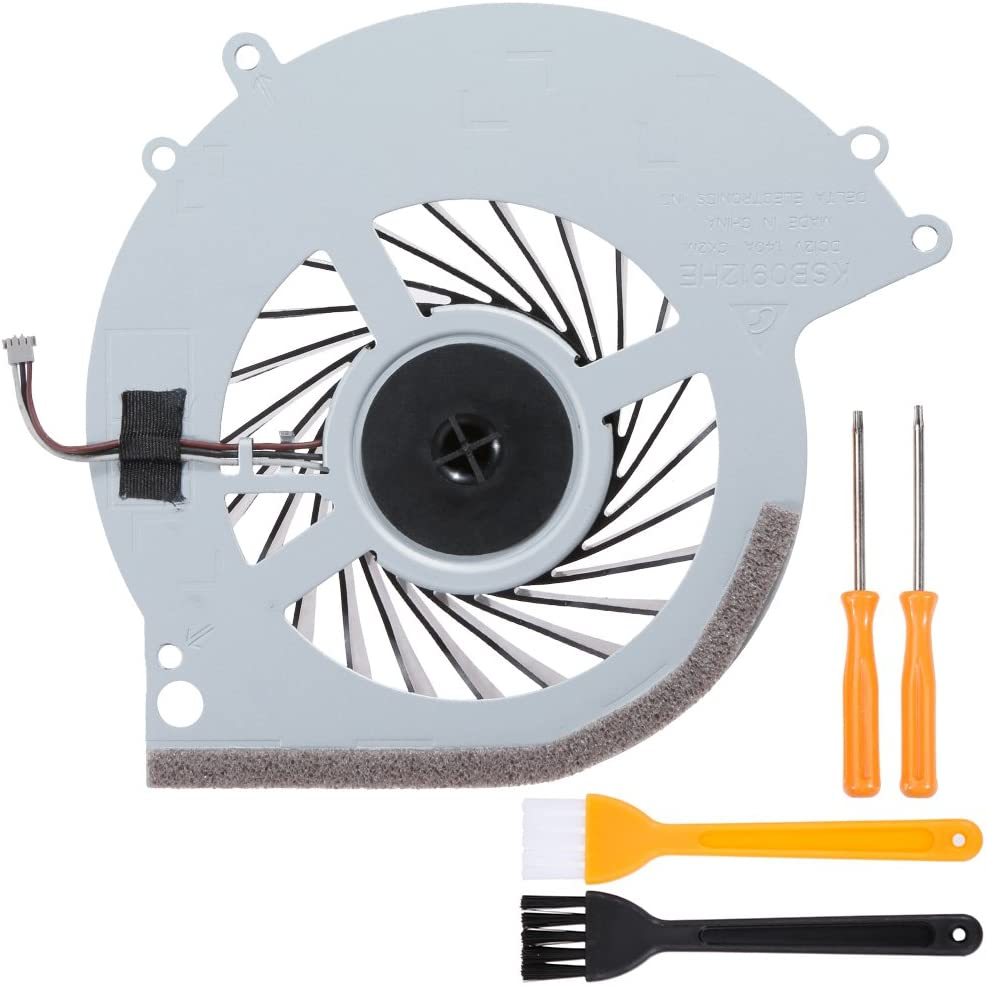 Zacro PS4 Replacement Internal Cooling Fan KSB0912HE for Playstation 4 CUH-10XXA CUH-11XXA CUH-1115A 500GB + Tool Kit+ Cleaning Brush