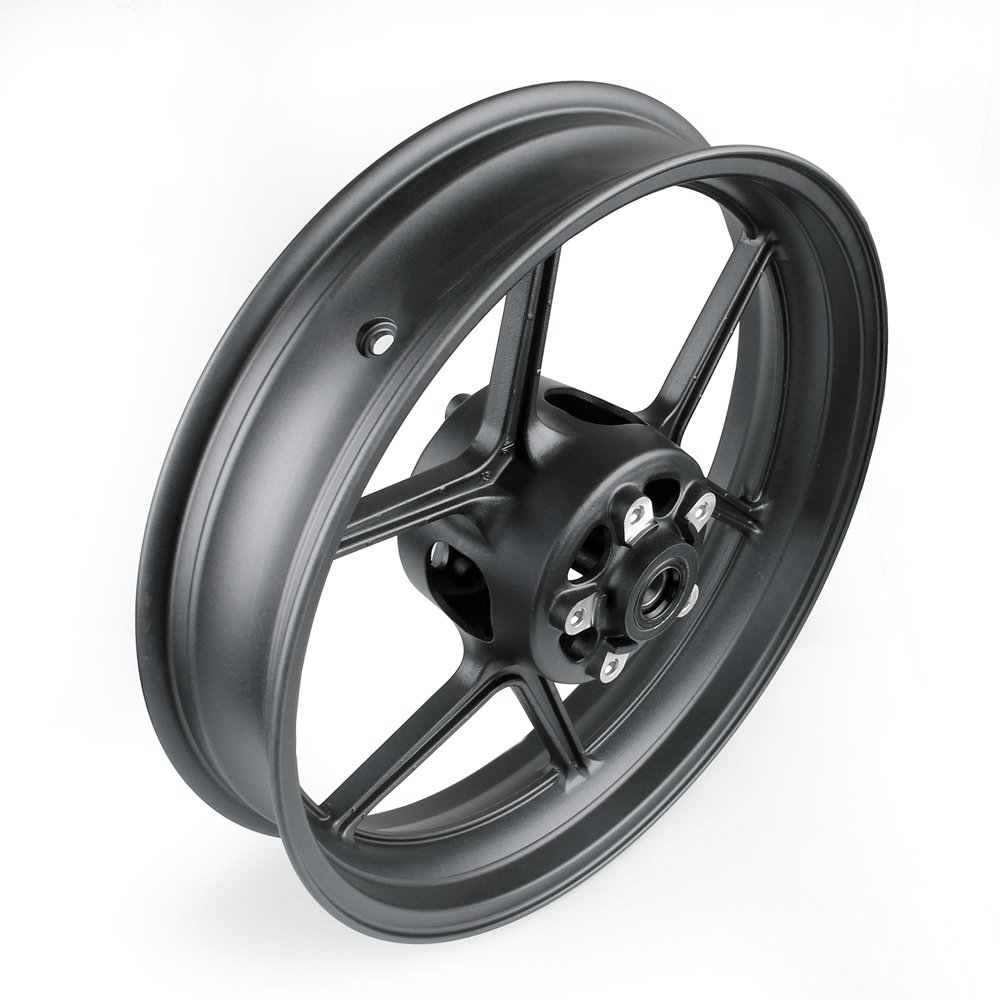 Artudatech Front Wheel Rim For Kawasaki ER6N 2006-2012 ZX10R 2004-2005 Black by Artudatech (Image #3)