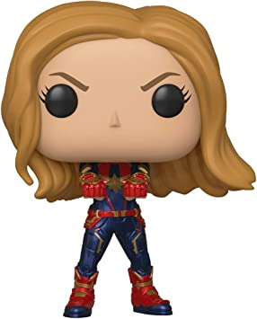 Funko- Pop Bobble: Avengers Endgame: Captain Marvel Capitana ...