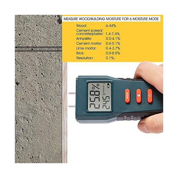Fetanten-Moisture-Meter-with-Humidity-Damp-Meter-Electrical-Tester-Digital-Multimeter-Sensory-and-LCD-Display-for-Logs-Firewood-Walls-Floors-Plaster-Oak-Cement-and-Bricke-17-Kinds-of-Materials