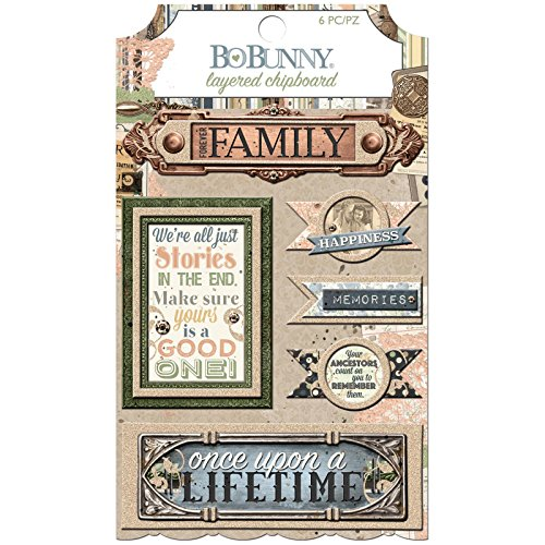 Bo Bunny 7310091 Layered Chipboard Once Upon A Lifetime Stickers Multicolor