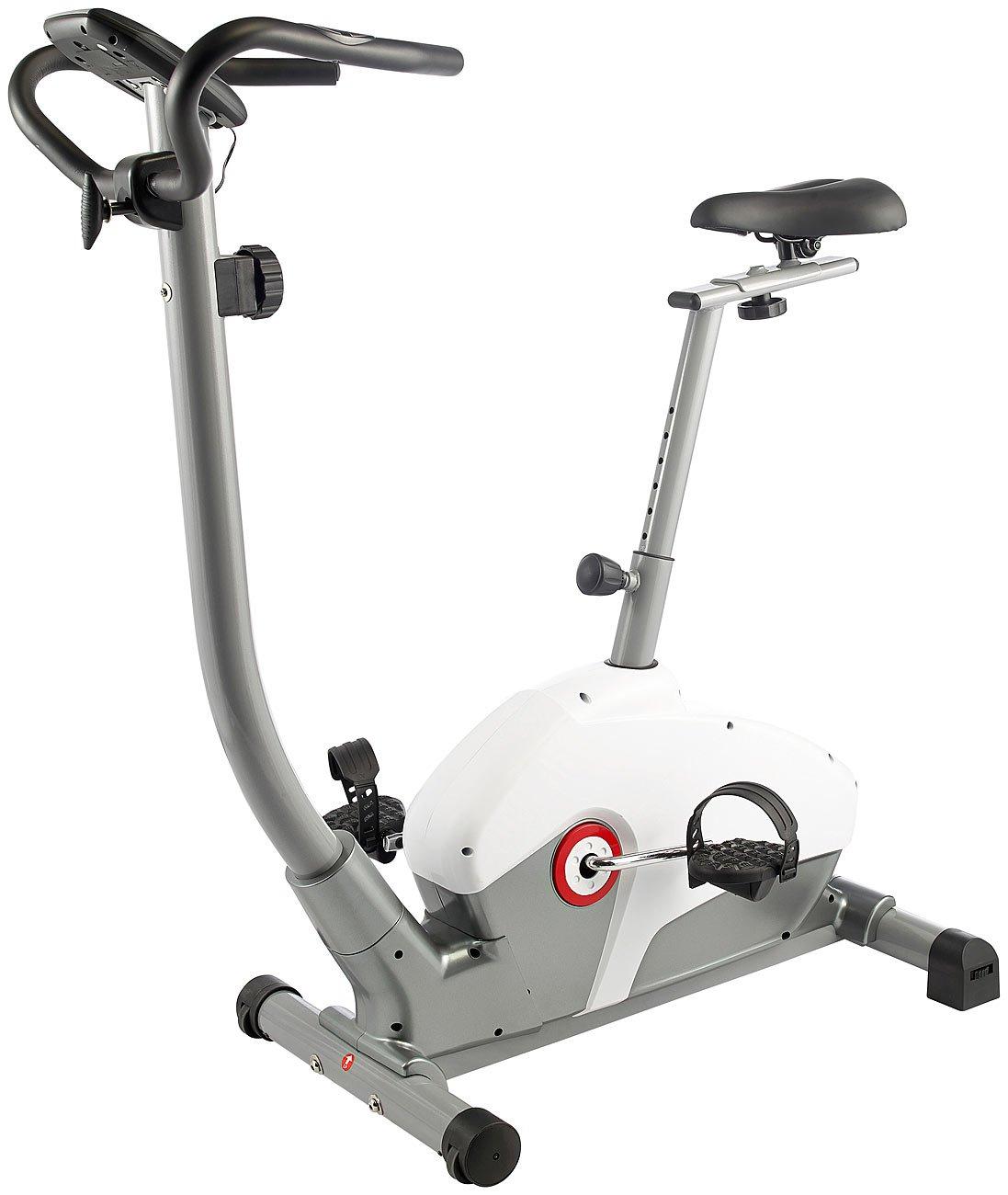 PEARL sports Ergometer  Profi-Heimtrainer HT-750, Pulsmesser, 5 kg Schwungmasse (Fahrradergometer)