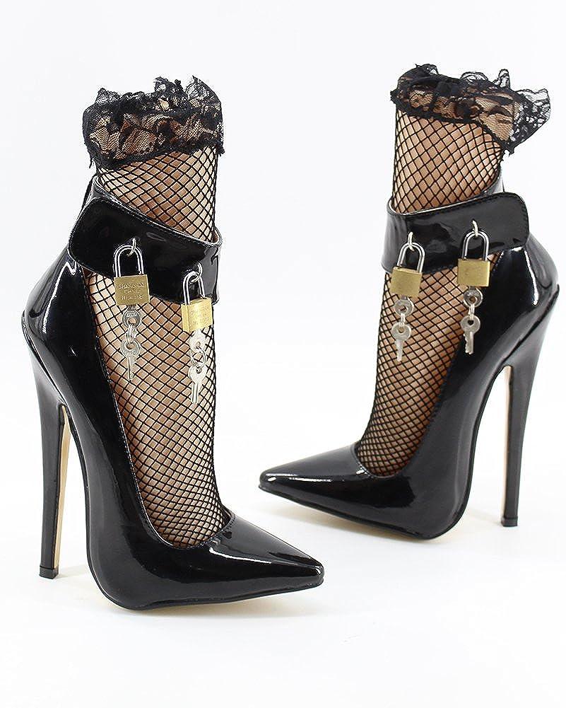 WONDERHEEL Womens Padlocks Pumps Shoes