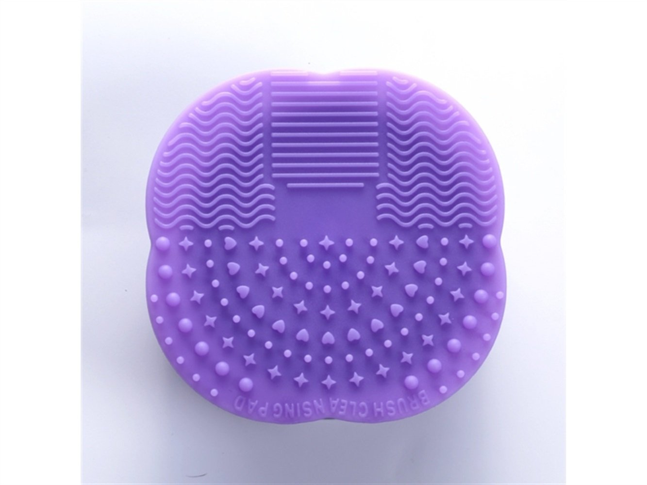 Women Silicone Brush Cleaner Make Up Brushes Cleaning Pad(Light Purple) Hair Decoration Huacang