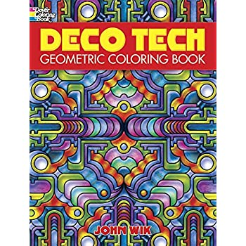 Geometric Art Coloring Book : Amazon.com: dover publications deco tech geometric coloring book