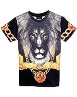 Pizoff Unisex 3D Digital Cat Collage Printing T Shirts