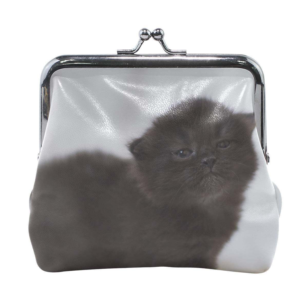 Rh Studio Coin Purse Kitten Black Photo Shoot Baby Print Wallet Exquisite Clasp Coin Purse Girls Women Clutch Handbag