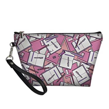 0d6672bc5ff9 Amazon.com : UNICEU Women Girls Zipper Closure Toiletry Bag Case ...