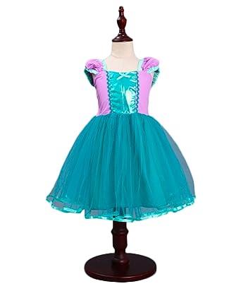 AOGD Mädchen Prinzessin Kleid Blumenmädchen Kleider Mädchen Kinder ...