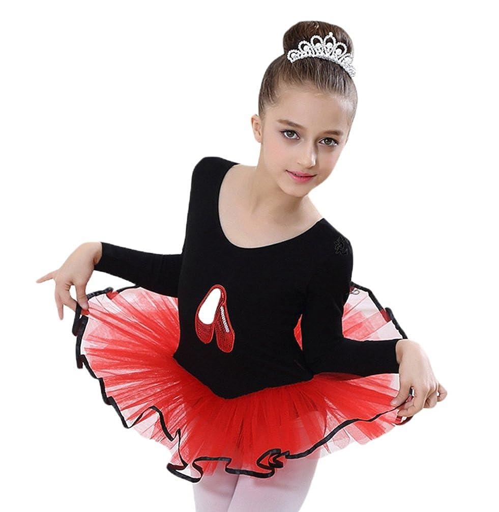 Yiiquan Ragazze Bambini Vestito da Principessa Tulle Pratica Gonna Balletto Manica Corta