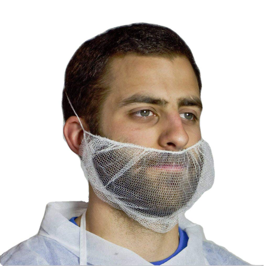 Royal White 18 Inch Nylon Honeycomb Beard Protector, Latex Free, Package of 100