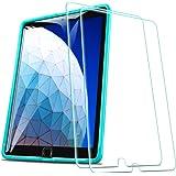 ESR iPad Air 2019 フィルム iPad Air3 10.5インチ【貼り付けガイド枠付き 】 旭硝子製 三倍強化 専用 液晶保護フィルム 高透明度 硬度9H 気泡ゼロ スクラッチ 指紋拭きやすい 2019年版 iPad Air 10.5インチ専用[2枚入り]