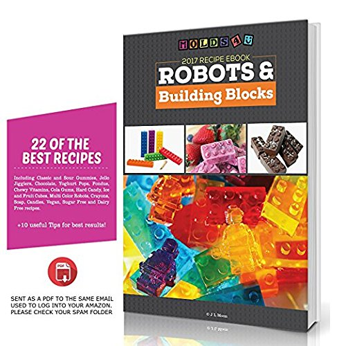 América mejor compra - 4 Pack Lego Estilo Silicona Candy moldes & Ice Cube bandejas con eBook de recetas: Amazon.es: Hogar