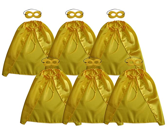 Baby song yellow superheros cape and mask for kids dress up pretend play superhero cape