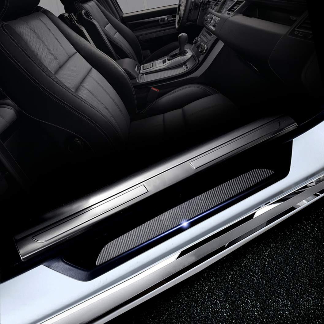 ALLYARD for BMW 1series 2015-2017 F20 F21 116 118 120 125 135 car Door Edge Threshold Protector Access Control Cover Carbon Fiber Sticker Protector 4PCS