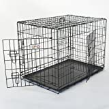 30″ Double Door Folding Dog Crate Cage Two 2 – Medium