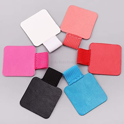 Self-adhesive Leather Pen Clip Pencil Elastic Loop For Notebooks Journals Clipboards Pen Holder Pen Holders