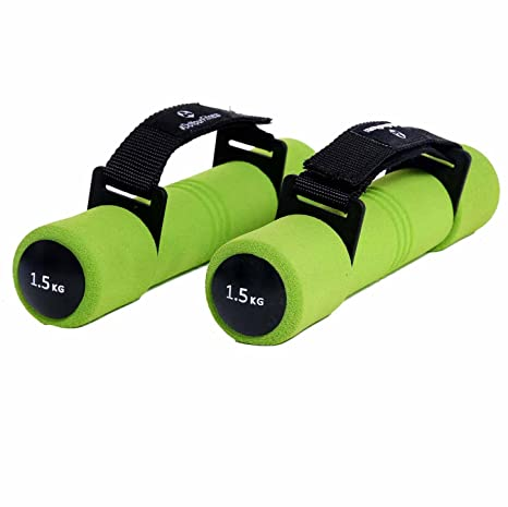 Mancuernas de aeróbic »Liona« / mancuernas de entrenamiento / pesas con correa de mano