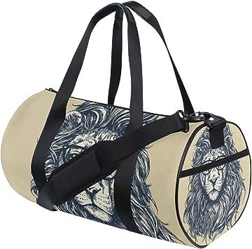 Hipster Lion Sports Bag