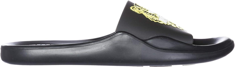 Kenzo Mujer Zapatillas Sandalias en Goma Negro