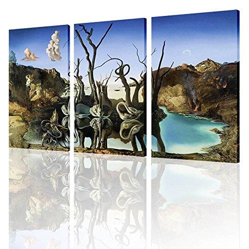 Alonline Art - Swans Reflecting Elephants Salvador Dali ...