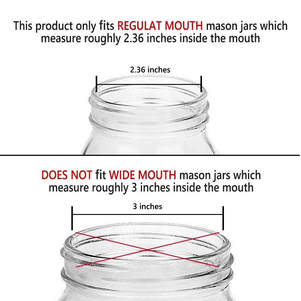 Elwiya Rustic//Farmhouse Mason Jar Soap Dispenser Lid and Pump Rust Proof 3 Pack Plastic Dispenser Lid for 16 oz Regular Mouth Mason Jar Decor