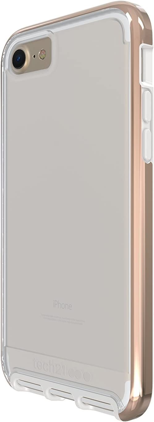 Tech21 Evo Elite Case for iPhone 7 - Clear Polished Gold