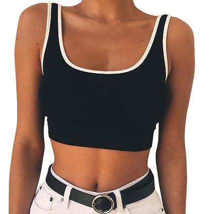 Blusa de muje, de Beikoard, moda sexy. Camiseta sin mangas, color liso