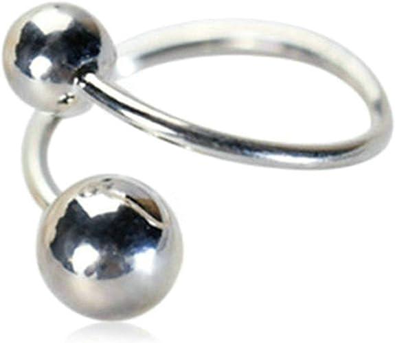 Gnzoe S925 Sterling Silver Women Wedding Ring Open Finger Ball