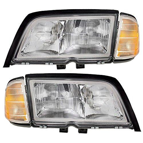 Driver and Passenger Halogen Headlights Headlamps Replacement for Mercedes-Benz 2028202761 2028202861 1964 Mercedes Benz