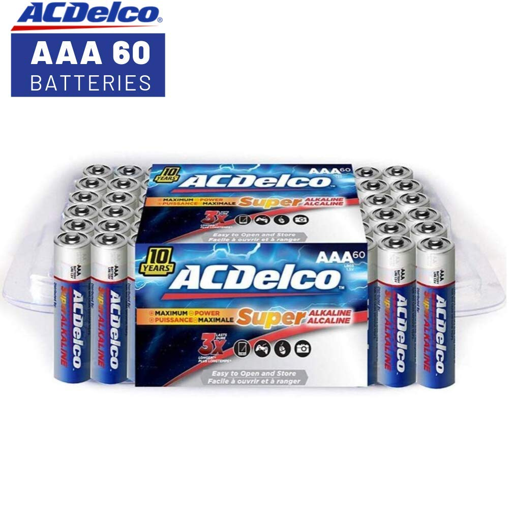 ACDelco AAA Batteries, Alkaline Battery, 60 Count by Powermax USA