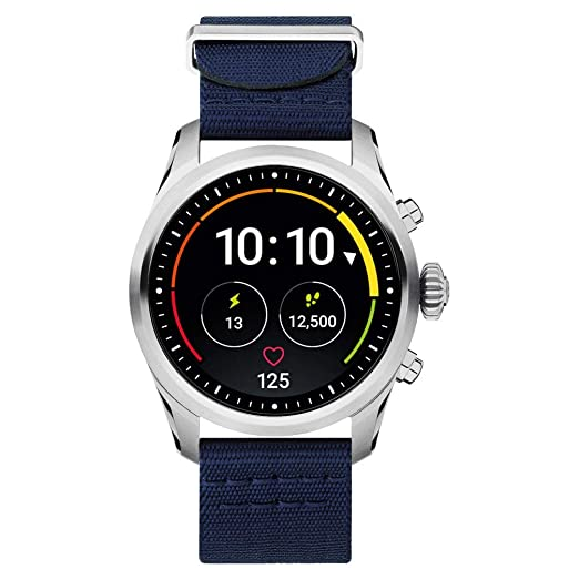 Reloj Montblanc Summit 2 Smartwatch 119561 Acero Inoxidable Nylon Azul: Amazon.es: Relojes
