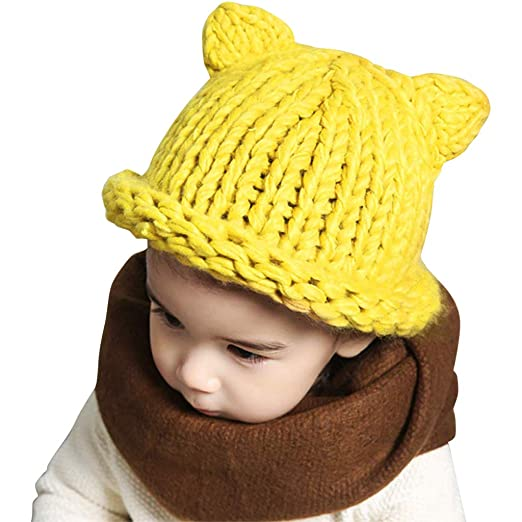 7fbf2eaab8892 Warm Hats for Toddlers Earflap Beanie Coif Knit Baby Winter Hood Caps Girls