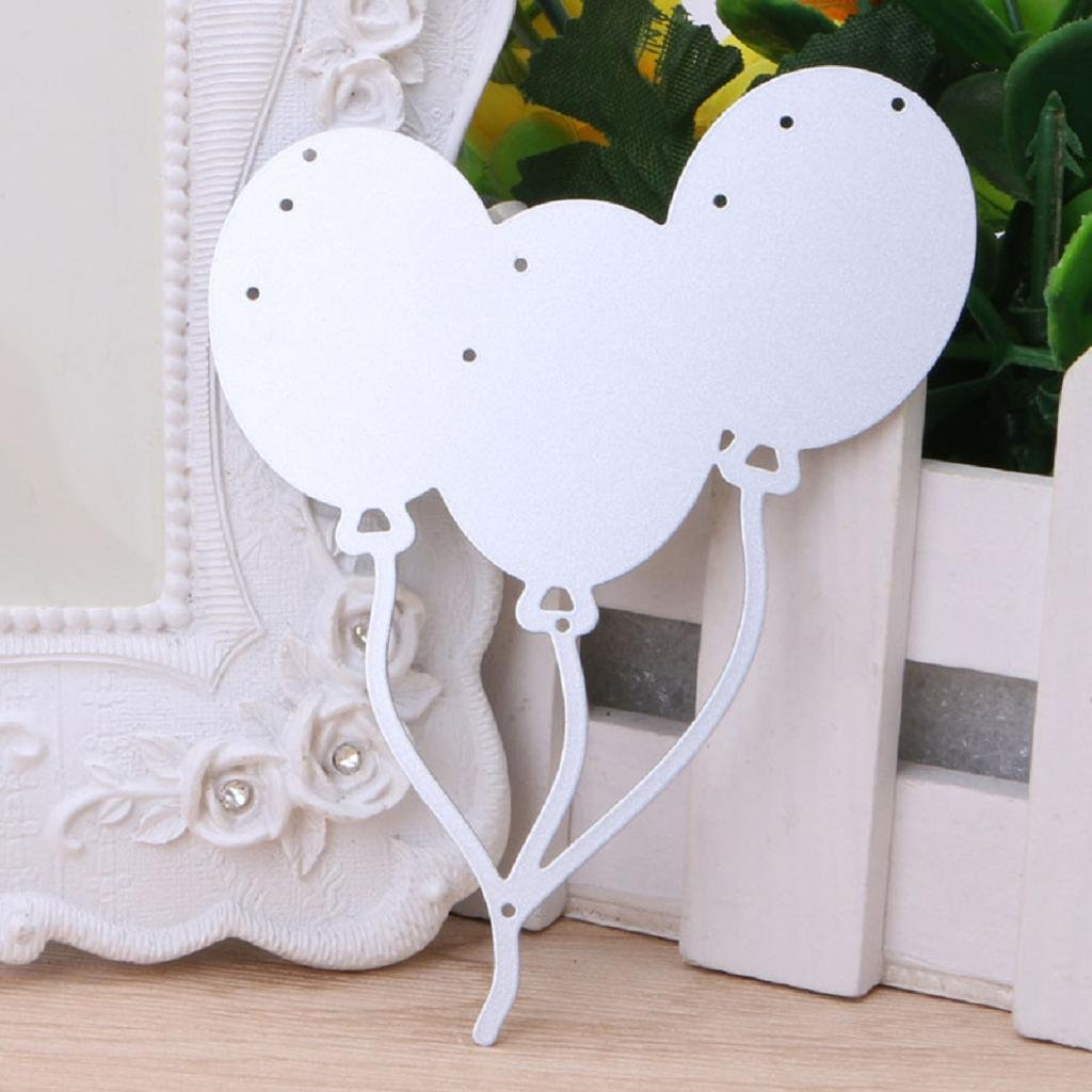 Scrapbook Papier Ranuw Stanzschablonen Luftballons aus Metall Ausstecher Pr/ägung Schablone DIY Handwerk