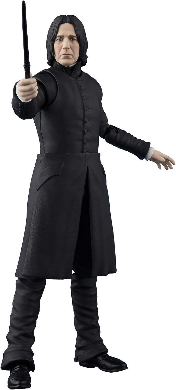 BANDAI- Severus Snape Figura 12 CM Harry Potter SH FIGUARTS Series, Color Black (BAS55563)