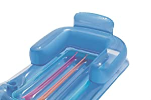 مرتبة هوائية قابلة للنفخ لحمام السباحة ديزاينر فاشون من بيت واي 43028 - ازرق
