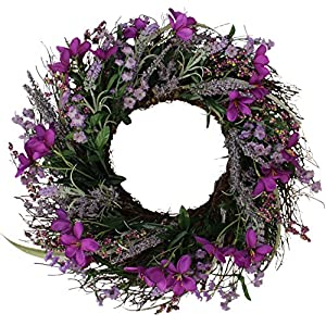 The Wreath Depot Lavender Blossom Silk Spring Door Wreath, 20 Inch 9
