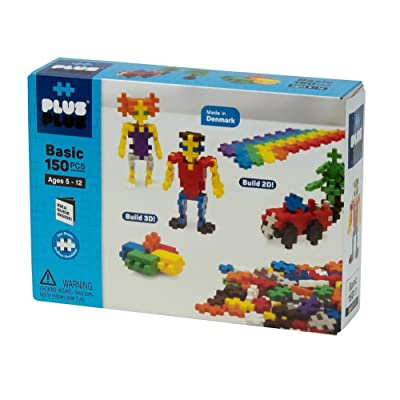 PLUS PLUS – Open Play Set – 150 Piece Basic Color Mix – Construction Building STEM | STEAM Toy, Interlocking Mini Puzzle Blocks for Kids: Toys & Games