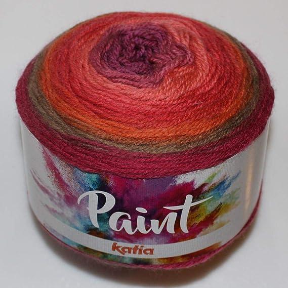 Lanas Katia Paint Ovillo de Color Coral: Amazon.es: Hogar