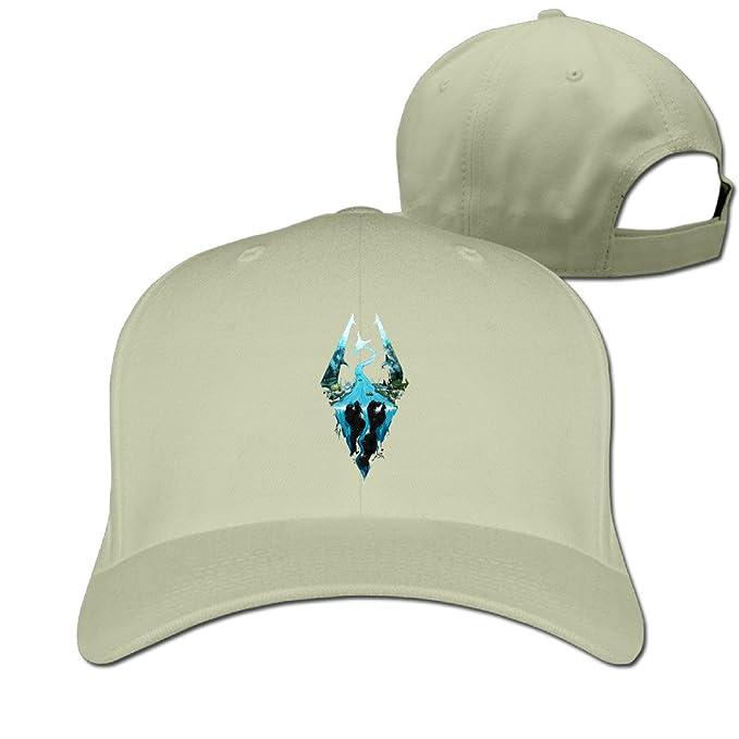 476133fc358a3 Elder Scrolls Skyrim Logo Art Baseball Cap Snapback Hat  Amazon.ca   Clothing   Accessories
