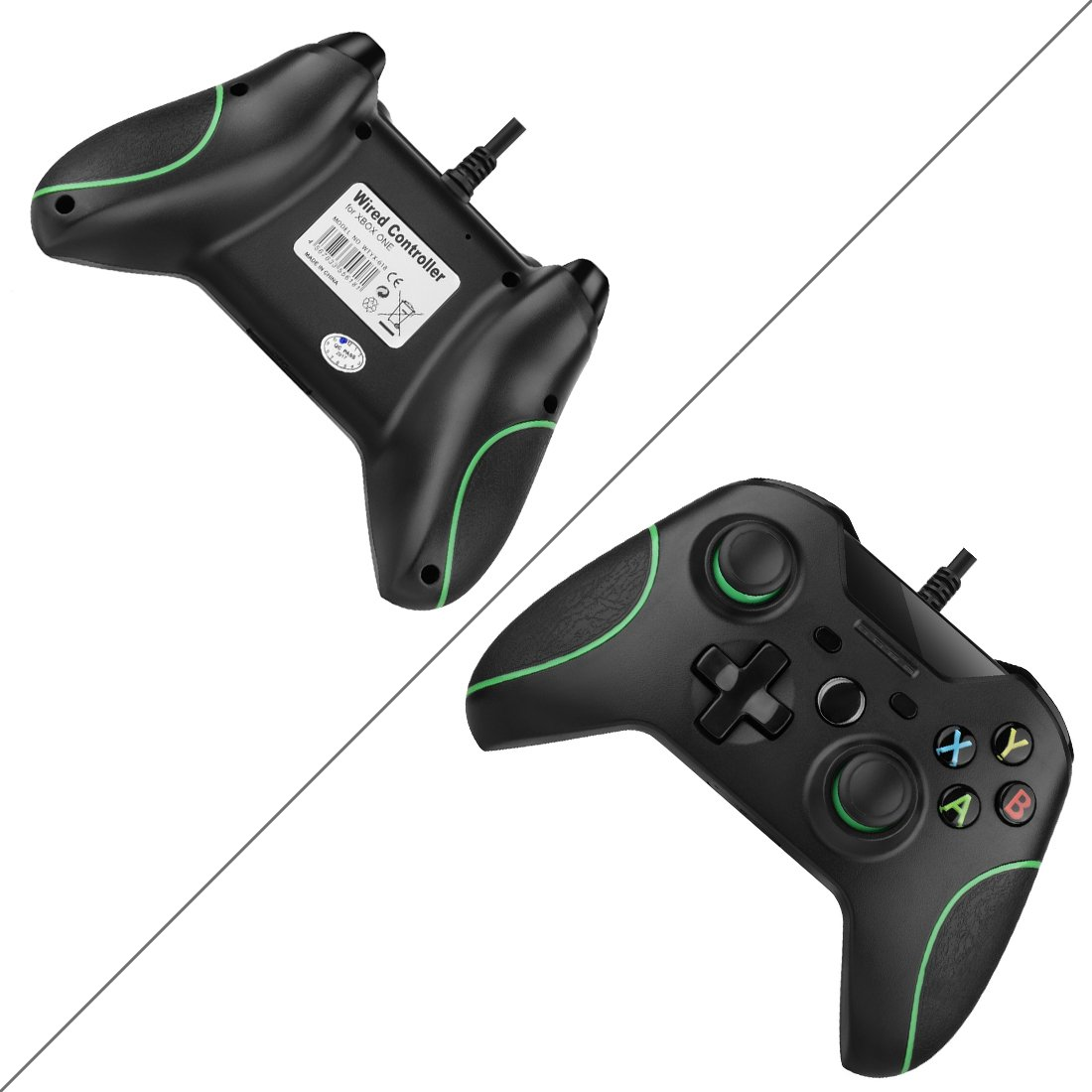 Amazon.com: Game Controller, Rottay Wired Xbox One Controller ...