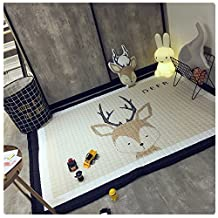 Kids Teepee Mat Children Antiskid Play Mat Baby Crawling Mat Non-slip thicken Carpet(145*195 CM) (Deer)