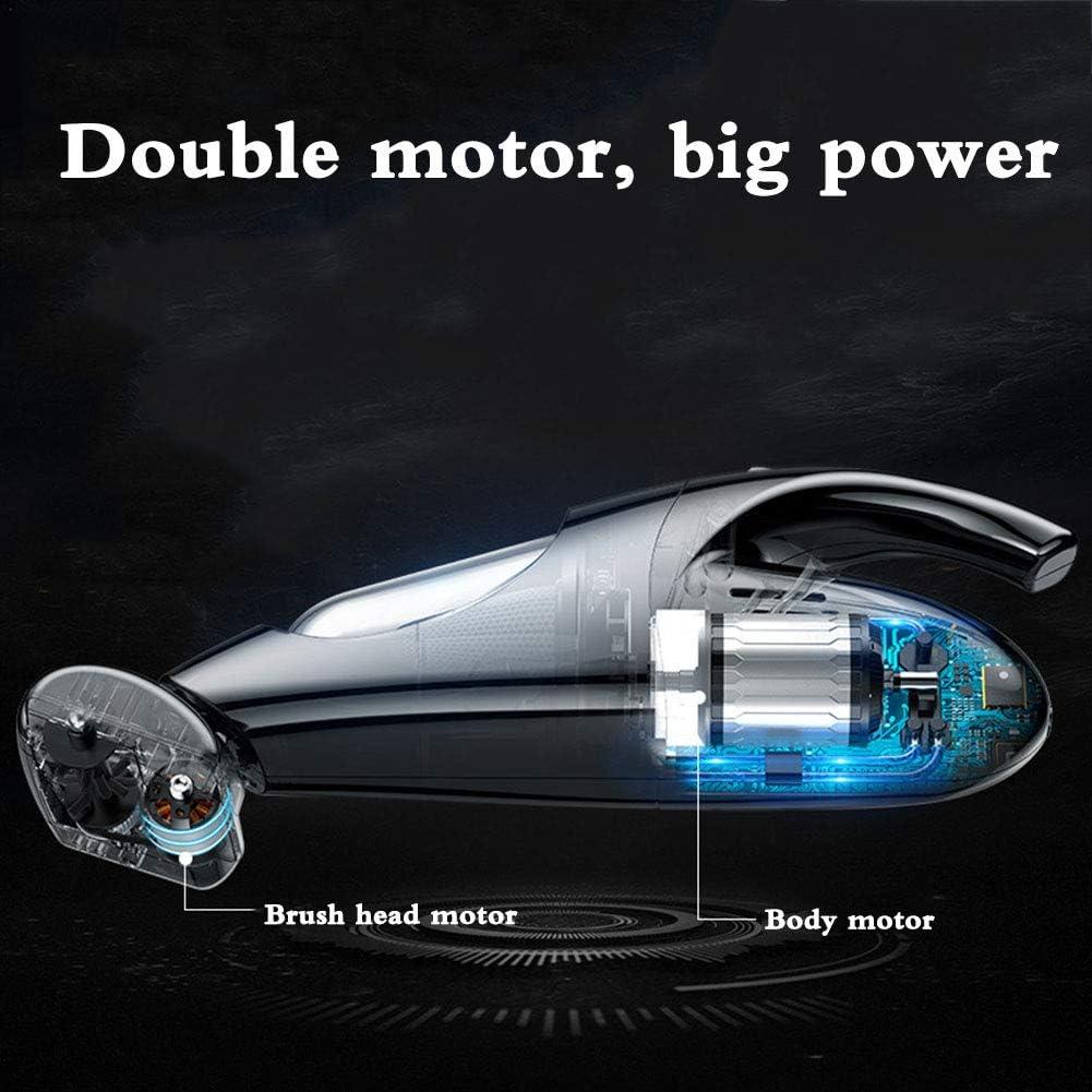 SYHSZ Aspirateur Portable Forte Aspiration Cyclonique Haute Puissance Poussière Buster 360 ° Filtre Lavable Élément Portable Aspirateur pour Voiture,Noir Black