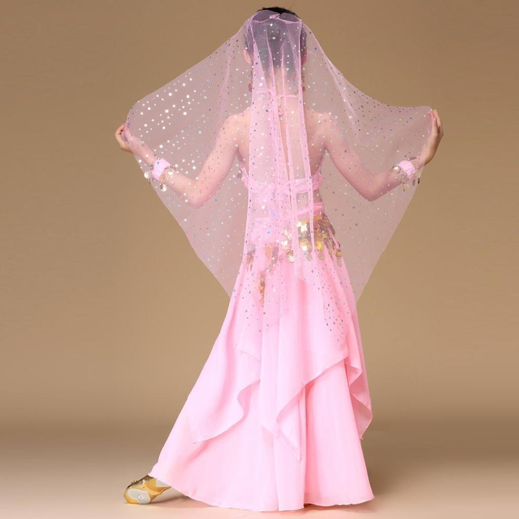 2f10fac5da42c Danse Orientale Enfant Fille Tenue Costume Danse Orientale Danse du Ventre  Vetement Ensemble crop top et ...